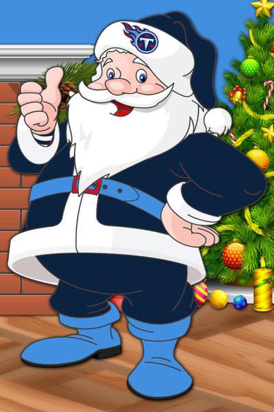 Titans Santa Claus Art Print