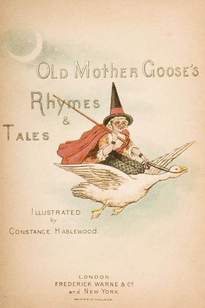 Mother Goose Drawing - Title Page Illustration From Old Mother by Vintage Design Pics