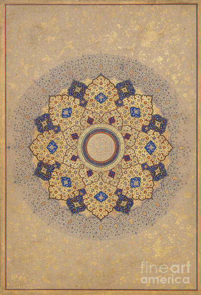 Painting - Titles Of Sha Jahan by Celestial Images