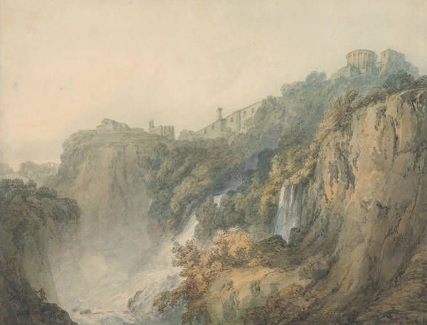 Painting - Tivoli With The Temple Of The Sybil And The Cascades by Joseph Mallord William Turner