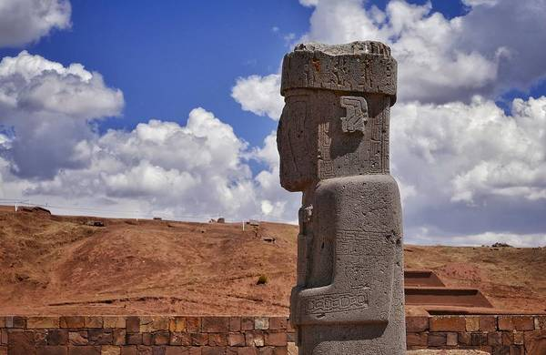 Photograph - Tiwanaku And Puma Punku 9 by Skip Hunt