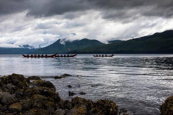 Photograph - Tlingit Paddlers by Ian Johnson