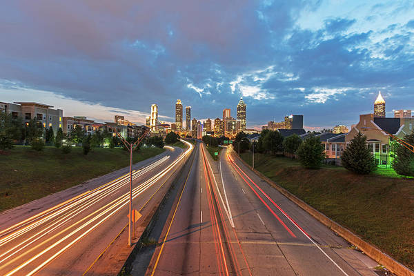 Hotlanta Photograph - To And From Atlanta At Sunset by Willie Harper