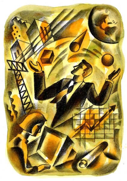 Balance Painting - To Be A Businessman by Leon Zernitsky