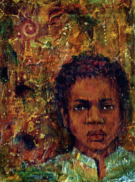 Mixed Media - To Be Sold Boy 8 - 1796 by Cora Marshall