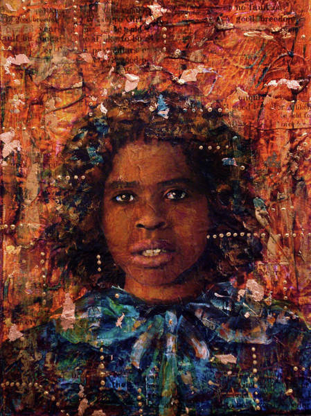 Mixed Media - To Be Sold Girl 15 - 1773 by Cora Marshall