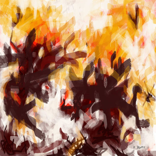 Painting - To Be With You Abstract by Karla Beatty