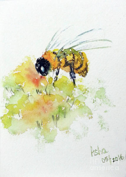Painting - To Bee Or Not To Be  by Asha Sudhaker Shenoy