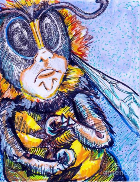 Clovis Painting - To Bee Or Not To Bee? That Is The Question by Susan Brown    Slizys art signature name