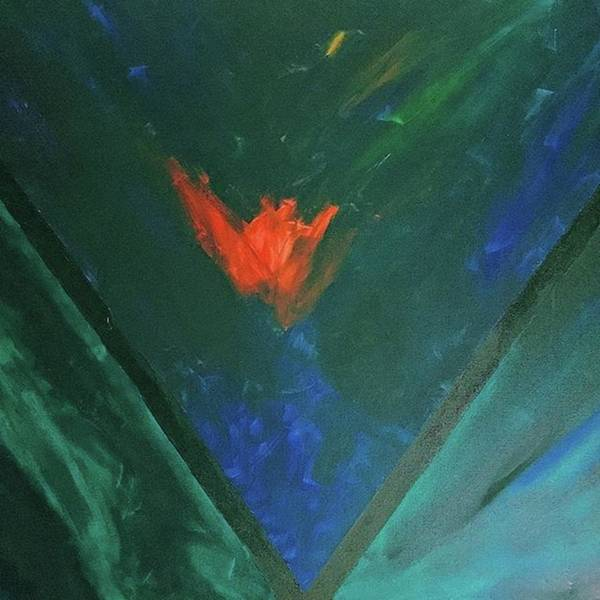 Green Painting - To Burn Within.  by T Prosper Harris