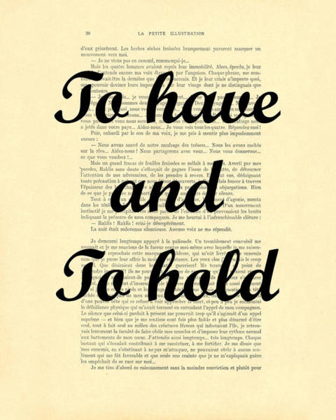 Wall Art - Digital Art - To Have And To Hold by Madame Memento
