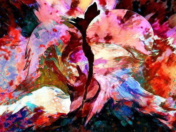Heartbroken Digital Art - To Heal A Broken Heart by Abstract Angel Artist Stephen K