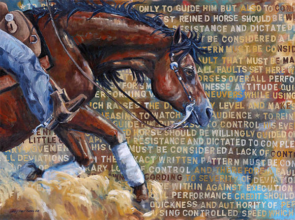 Reins Painting - To Rein A Horse by Sarrah Dibble-Camburn