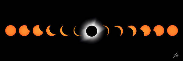 Totality Photograph - Stealing The Sun by Brandon Griffin