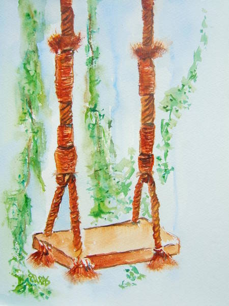 Wall Art - Painting - To Swing Is Timeless by Elaine Duras