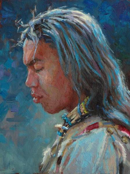 Lakota Painting - To The God Of Us All by Jim Clements