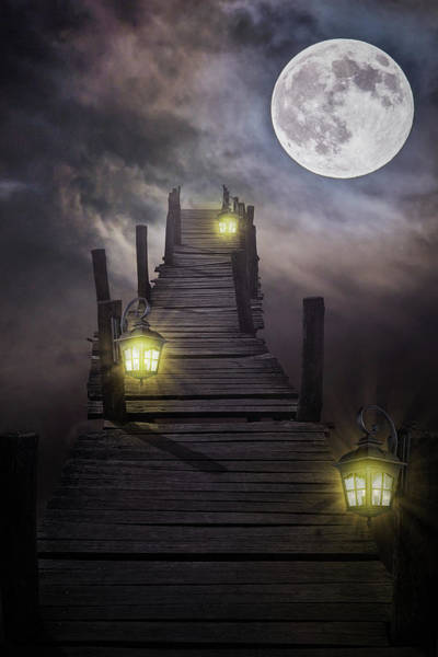 Compose Wall Art - Digital Art - To The Moon And Back by Mihaela Pater