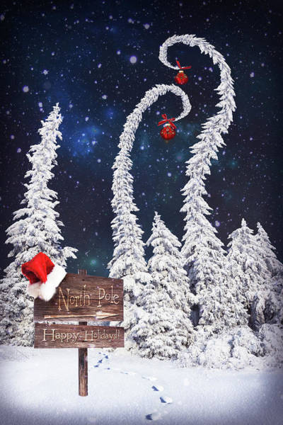 Christmas Celebration Digital Art - To The North Pole by Mihaela Pater