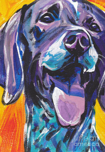 German Pointer Painting - To The Point by Lea S