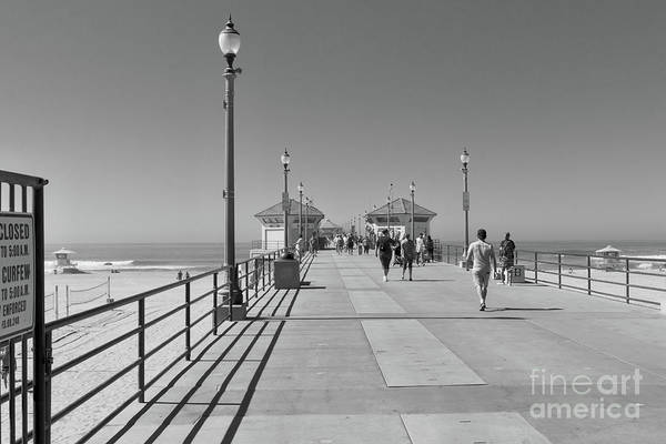 Wall Art - Photograph - To The Sea On Huntington Beach Pier by Ana V Ramirez