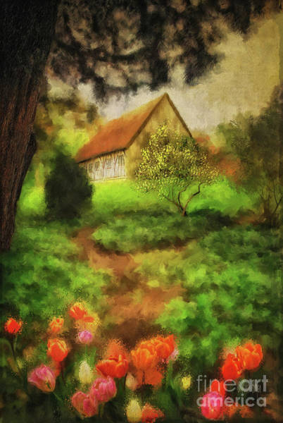 Wall Art - Digital Art - To The Tulips by Lois Bryan