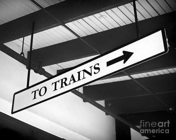 Station To Station Photograph - To Trains by Patrick M Lynch