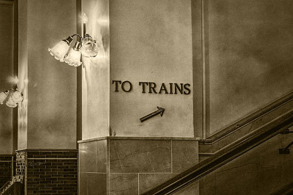 Photograph - To Trains by Sharon Popek