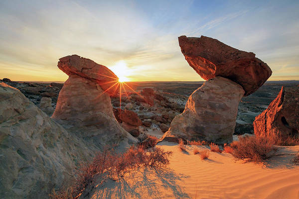 Hoodoos Photograph - Toadstool Sunrise by Johnny Adolphson