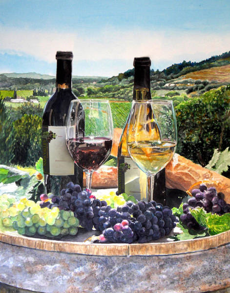 Napa Wall Art - Painting - Toast Of The Valley by Gail Chandler