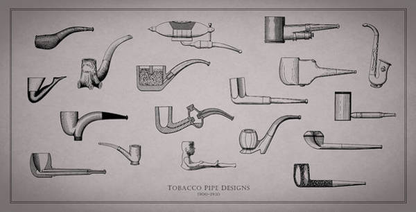 Tobacco Wall Art - Photograph - Tobacco Pipe Designs 1900-30 by Mark Rogan