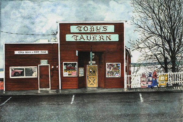 Tavern Painting - Toby's by Perry Woodfin