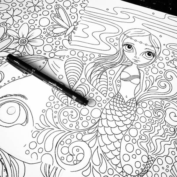 Fantasy Photograph - Today: Line Drawing. ✒️ by Jaz Higgins