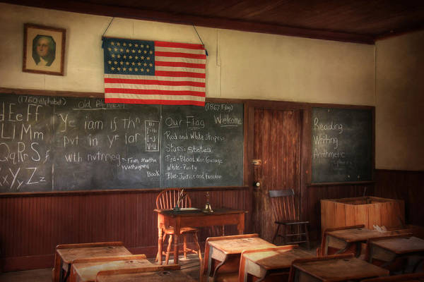 Schoolhouse Photograph - Today's Lesson by Lori Deiter