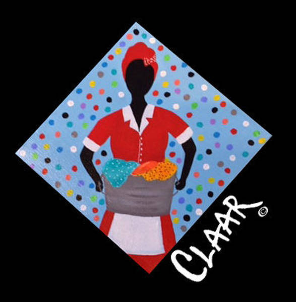 Gullah People Wall Art - Painting - Today's Wash by Samantha Claar