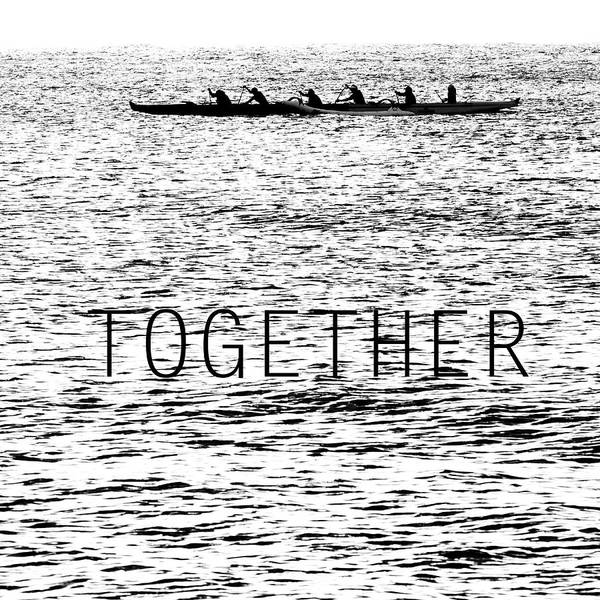 Outrigger Canoe Photograph - Together by Sean Davey