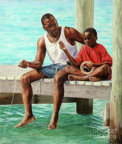 Painting - Together Time by Roshanne Minnis-Eyma