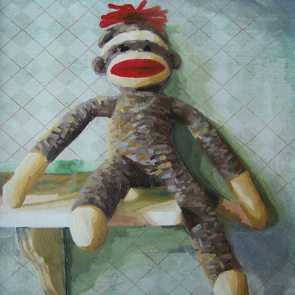 Sock Monkey Painting - Toggl by Chelsie Brady