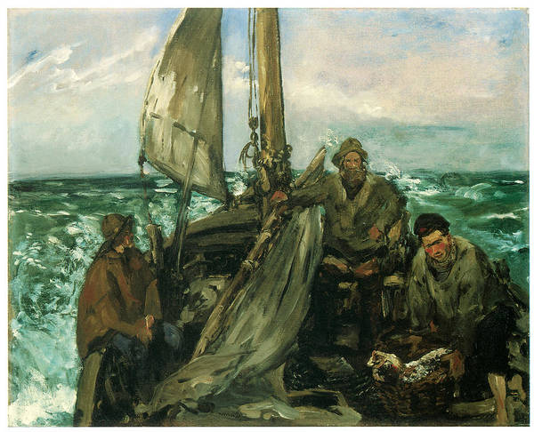 Manet Wall Art - Painting - Toilers Of The Sea by Edouard Manet
