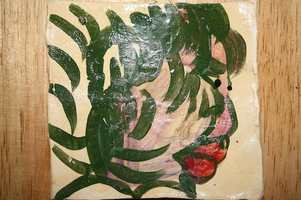 Ceramic Art - Toke 2 - Tile by Gloria Ssali