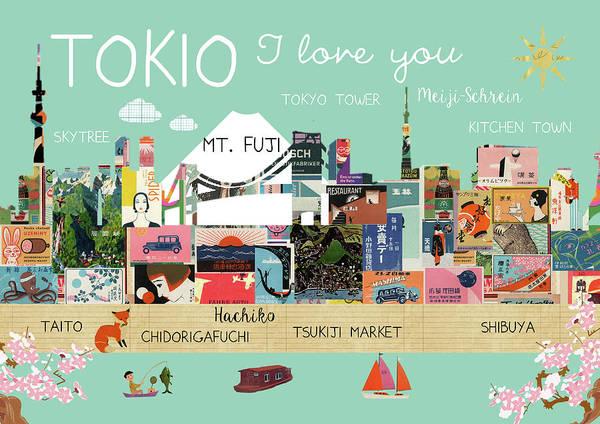 Tokio I Love You Art Print