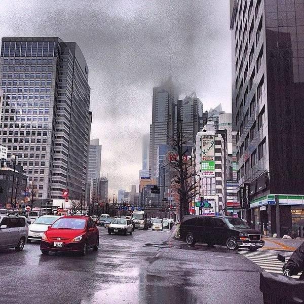 Landscape Digital Art - Tokyo Cloudy by Moto Moto