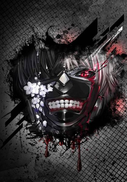 Ghoul Digital Art - Tokyo Ghoul Kaneki by Tyler Mckie