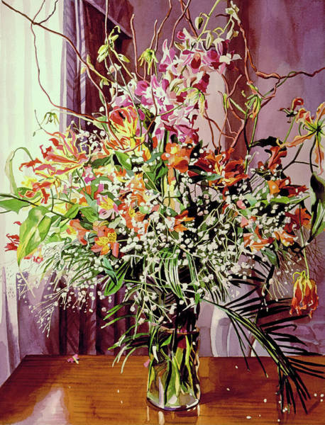Painting - Tokyo Orchid Arrangement by David Lloyd Glover