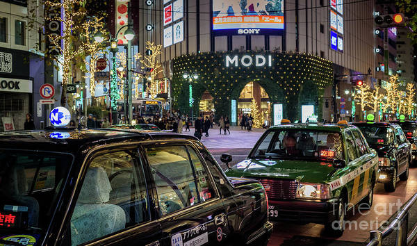 Tokyo Taxis, Japan Art Print