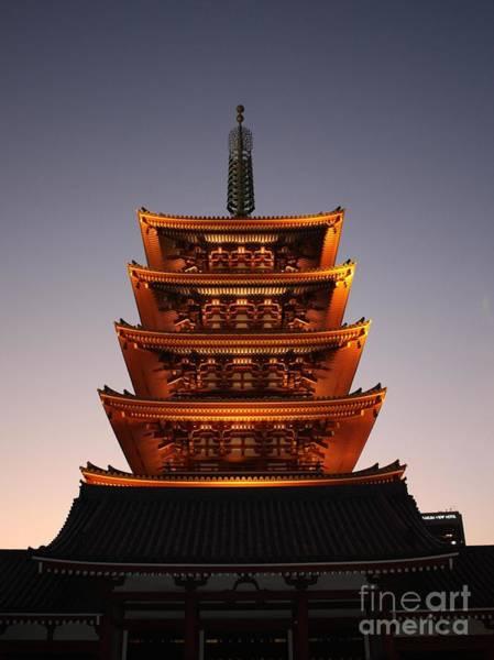 Photograph - Tokyo Temple Lights by Carol Groenen