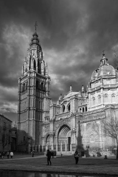 Photograph - Toledo Cathedral Bw by Joan Carroll