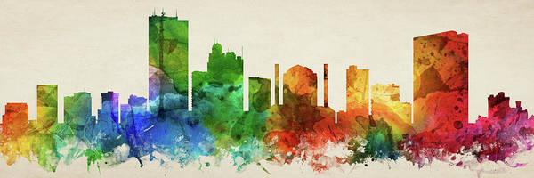 Wall Art - Digital Art - Toledo Skyline Panorama Usohto-pa03 by Aged Pixel