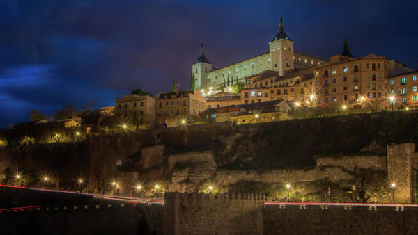 Photograph - Toledo Spain By Night II by Joan Carroll