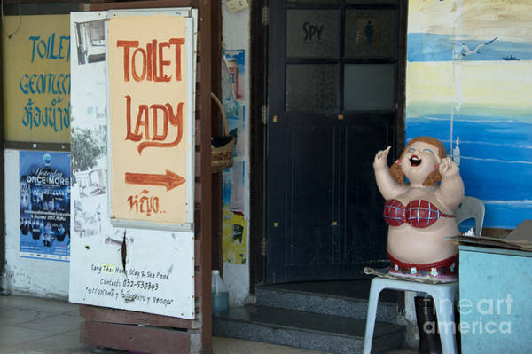 Wall Art - Photograph - Toliet Lady  by Rob Hawkins
