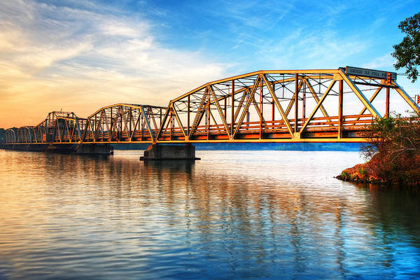 James River Photograph - Toll Bridge Sunrise by James Marvin Phelps